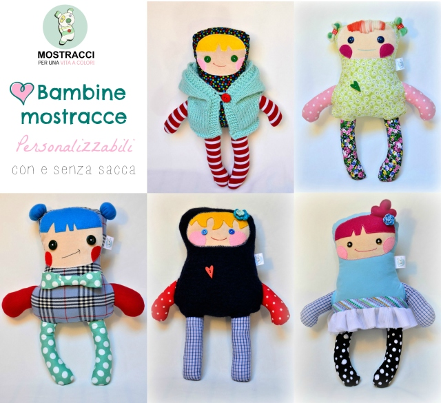 collage bambole