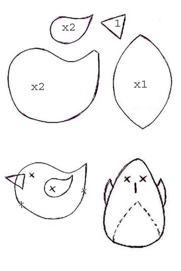 uccellino cartamodello